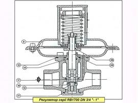 """Ремкомплект на регулятор газа Itron (Actaris) RBI 1721-1722 DN 1"""""""