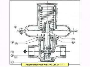 """Комплект запасных частей на регулятор газа Itron (Actaris) RBI 1721-1722 DN 1"""""""