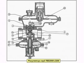 Ремкомплект на регулятор газа Itron (Actaris) серии RB 2211 - 2212