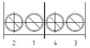 Нумерация контактов разъема для подключения датчика импульсов к GPRS-модема ТКБ