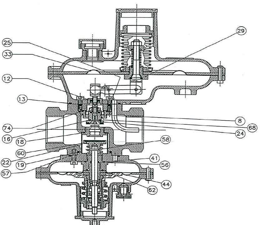 Комплект запасных частей на регуляторы давления газа Itron RB 2611 - 2612