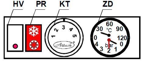 Панель управления котлом ATTACK 45 P