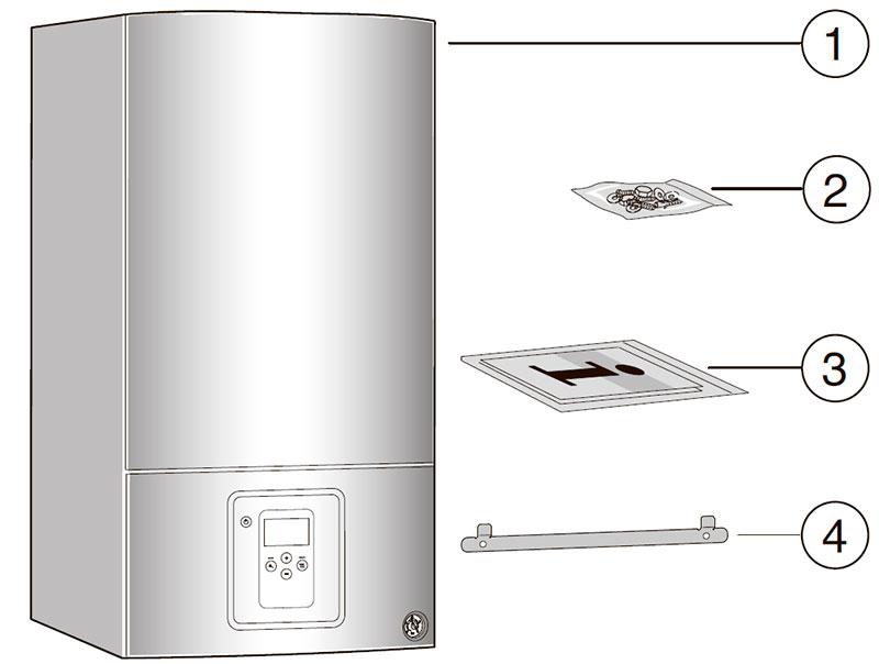 Комплект поставки конденсационного котла Bosch Condens 2500 W WBC 28-1 DC