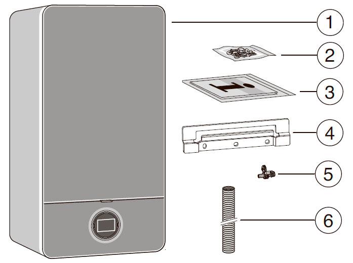 Комплект поставки конденсационного котла Bosch Condens 7000i W GC7000iW 14 P 23