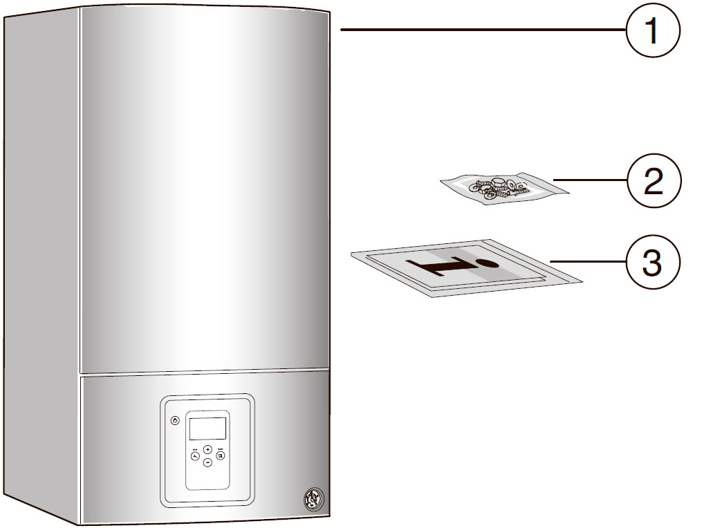 Комплект поставки котла Bosch Gaz 6000 W WBN 6000-35C