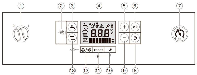 Панель управления конденсационным котлом Bosch Condens 7000i W GC7000iW 24/28 C 23