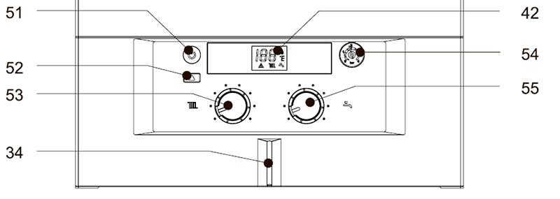 Панель управления котлом Bosch Gaz 3000 W ZS 28-2 KE