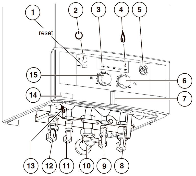Панель управления котлом Bosch Gaz 4000 W ZWA 24-2 K