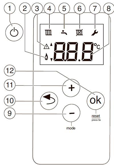 Панель управления котлом Bosch Gaz 6000 W WBN 6000-18C