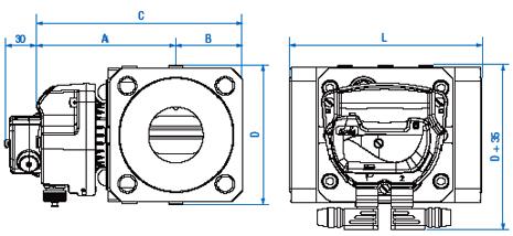 Габаритные размеры и вес счетчиков газа Delta Compact