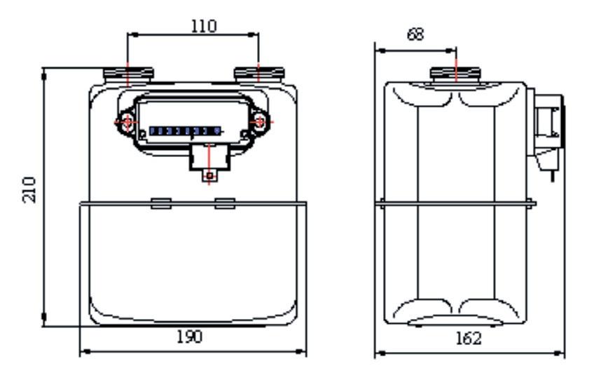 Габаритные размеры Самгаз G1.6