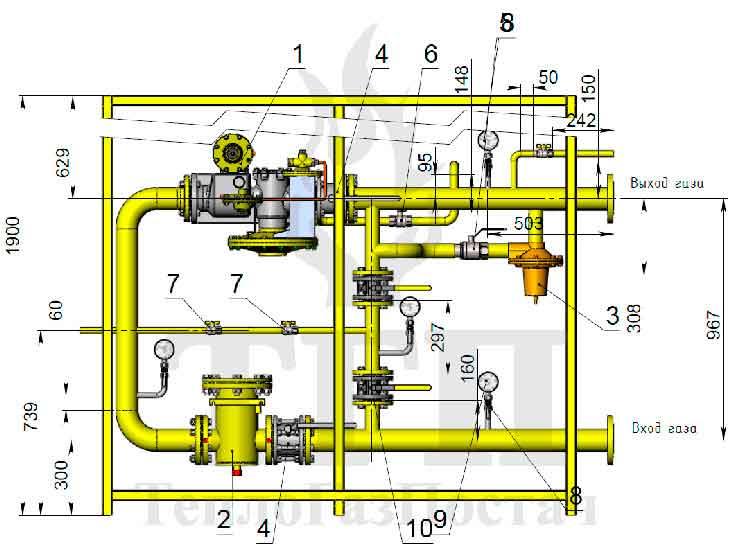 Клапан предохранительный сбросной для регулятора РДСК-50