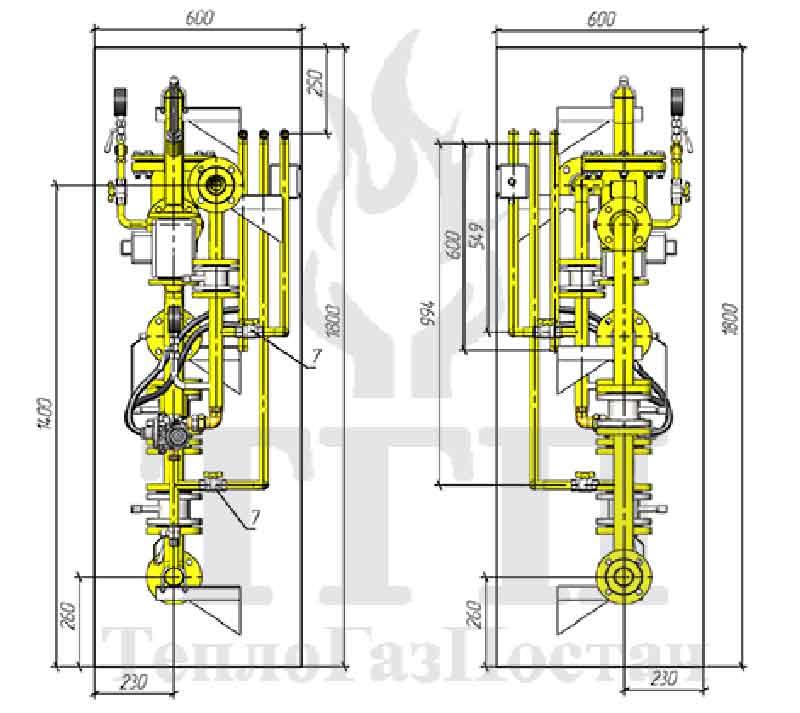 Газорегуляторный пункт ШРП-R/25-2 с регуляторами R/25