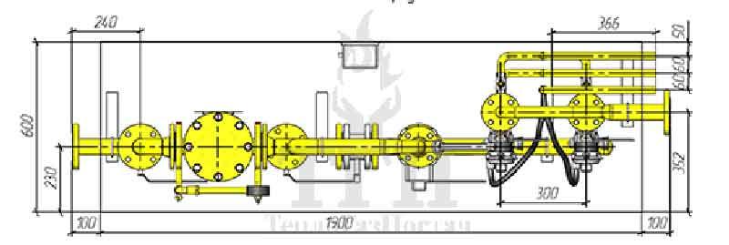 Схема шкафного газорегуляторного пункта ШГРП-2-М2R25-Delta-G10