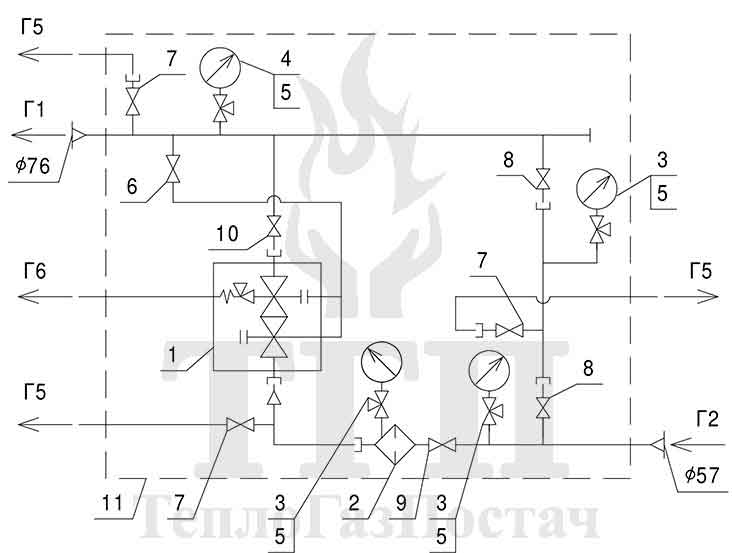 Принципиальная схема ШРП-1Б-P.Fiorentini-Dival-500