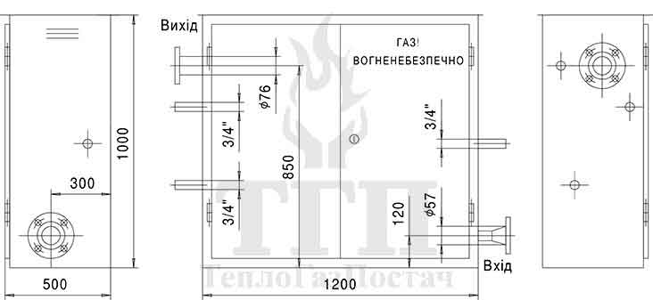 Габаритные размеры ШРП-1Б-P.Fiorentini-Dival-500