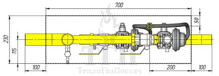 Схема ШРП с регуляторами FE-50 (FES)