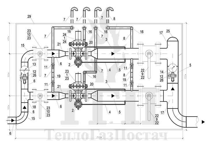 Схема ШРП-2-P. Fiorentini-Dival-600-50